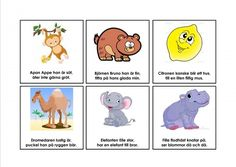 Mariaslekrum - Illustrerade rimramsor. Math For Kids, Kids Writing, Kids Corner, Montessori, Winnie The Pooh, Preschool, Clip Art, Education, Comics