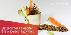 Idées de Légumes à emporter à la place du Sandwich