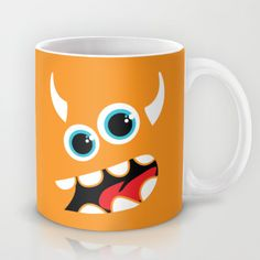 Orange+monster+Mug+by+Freewheeler+-+$15.00