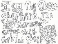 image result for good shepherd colouring pages