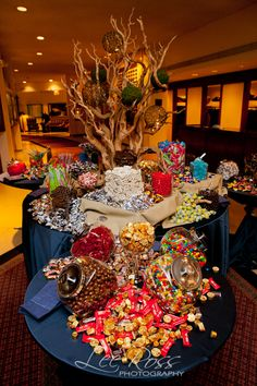 for bar mitzvah, bat mitzvah, teen party, quinceanera A fun Bar Mitzvah calls for a serious candy bar! Vince Hart from Kehoe Designs. Photo by Lee Ross Photography Candy Buffet Tables, Dessert Tables, Bar A Bonbon, Candy Display, Sweet 16 Parties, Candy Party, Candy Shop, Cool Bars, Dessert Bars