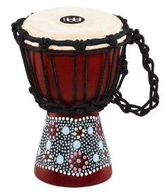 Meinl HDJ8 XXS Mini Djembe flower design #percussion #djembe
