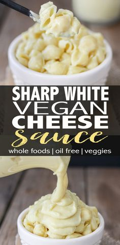 Vegan White Cheese Sauce. A sharp white vegan cheese sauce that's thick, creamy and packed with so much flavor. Absolutely delicious with pasta and many other dishes. A healthy and easy recipe. #vegan #wholefoods #plantbased #oilfree #glutenfree #cheesesauce  via @veggiesdontbite