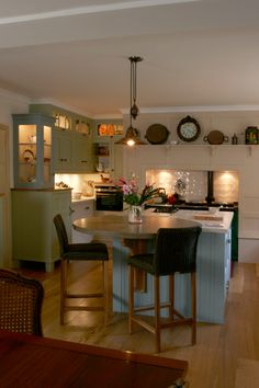 Round Kitchen Island kitchen center island with round table at end | wood kitchen