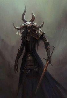 """""""It is told that the Wendigo Warrior was once a man. Fantasy Demon, Demon Art, Fantasy Monster, Dark Fantasy Art, Fantasy Artwork, Dark Art, Monster Concept Art, Monster Art, Dark Creatures"""