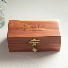 This personalized baptism keepsake box is a gift a child will cherish for years to come. Have it engraved with his or her name and baptism/christening date. A unique, custom gift for your godchild or any loved one celebrating their baptism. First Communion Gifts, Baptism Gifts, Christening Gifts, Personalised Gift Shop, Personalized Baby Gifts, Customized Gifts, Godchild Gift, Religious Gifts, Keepsake Boxes