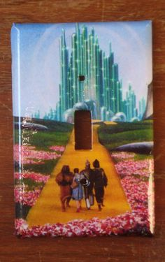 "light switch cover plate: ""Wizard of Oz"" $8.00"