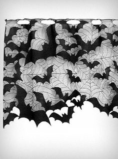 Going Batty Lace Window Valence | PLASTICLAND
