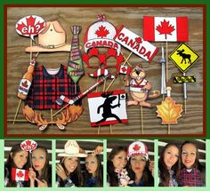 Canada Photo Booth Props perfect for celebrating Canda Day or Canada by thepartyevent, $14.99