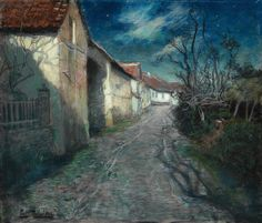 """Clair de lune à Beaulieu"" by Fritz Thaulow, 1904"