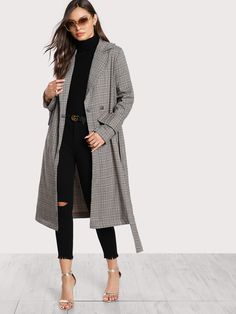 shein manteau long femme