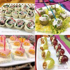 Aquí tienes una selección de aperitivos fáciles para invitados y fiestas con los que sorprender sin mucho trabajo y con ingredientes sencillos.