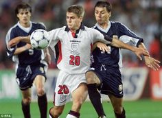 Arrival: Michael Owen burst onto the international scene after scoring against…