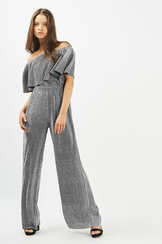 6a378d16ee14 Frill Top Bardot Jumpsuit by Rare