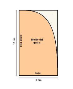 Gorro bebe molde