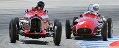 モントレー·モータースポーツでのアルファロメオP3とマセラティ250Fレユニオン2012