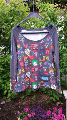 Damenshirt Größe L mit dem tollen Londonjersey von Zwergenschön  www.schmuckwerk-allgaeu.de