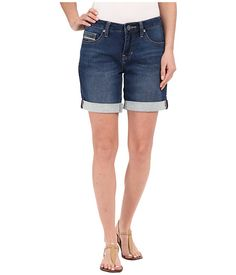 Jag Jeans Alex Boyfriend Shorts Knit Demin in Forever Blue