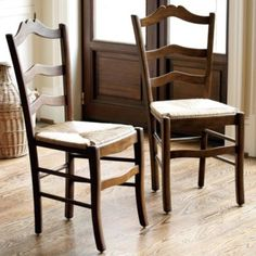 "Small:   Dimensions:  Overall: 38 1/4""H X 18 1/2""W X 19 1/2""D Each  Seat: 19 1/4""H X 15""D  LeMans Dining Chairs Set of 2"