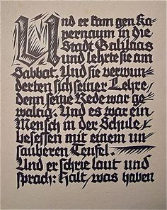 Rudolf Koch / The Healing of the Possessed History Of Calligraphy, Calligraphy Letters, German Tattoo, Gothic Fonts, Black Letter, Technical Drawing, Letter Art, Hand Lettering, Lettering Ideas