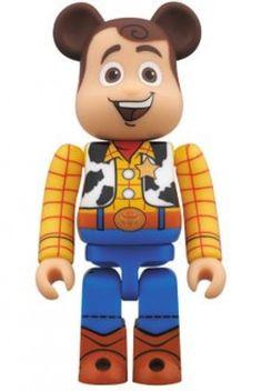 F/S BE@RBRICK BEARBRIC 400% x Toy Story Woody Pride Medicom Toy Action Figure #MEDICOMTOY