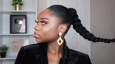 Nappyme 15 now ! braid with nappyme fast and simple Short Afro Hairstyles, Weave Ponytail Hairstyles, Braided Ponytail, Braided Hairstyles, Everyday Hairstyles, Hair Ponytail Styles, Curly Hair Styles, Natural Hair Styles, Hair Extensions For Short Hair