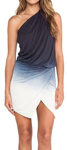 Ombre one shoulder dress