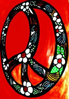 ☮ American Hippie Art ~ Groovy Peace Sign