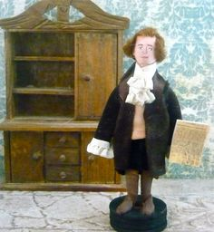 Colonial Art Doll Thomas Jefferson Historical American President