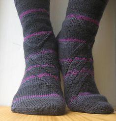 Black Slant Socks by Anneh Fletcher http://www.ravelry.com/patterns/library/black-slant #giftalong2014