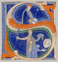 ...Initial S with the Beheading of Saint Paul, ca. 1278 From an antiphonary created for the Cathedral of Imola Master of Bagnacavallo Italian (Imola)