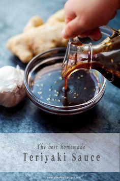 Receta Salsa Teriyaki, Best Teriyaki Sauce, Homemade Teriyaki Sauce, Homemade Sauce, Homemade Recipe, Japanese Teriyaki Sauce Recipe, Chicken Teriyaki Sauce, Teriyaki Marinade, Marinade Sauce