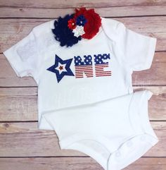 A personal favorite from my Etsy shop https://www.etsy.com/listing/384677226/fourth-of-july-bodysuit-2pc-set-w-shabby