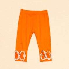Orange Ribbon Pants