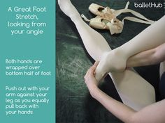 a great foot stretch for dancers