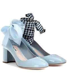 MIU MIU Patent leather pumps. #miumiu #shoes #pumps