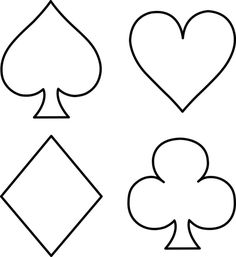 Risultati immagini per symbol for playing card clubs (white) Printable Playing Cards, Diy Playing Cards, Costume Halloween, Playing Card Costume, Alice In Wonderland Diy, Magic Birthday, Card Drawing, Card Tattoo, Templates Printable Free