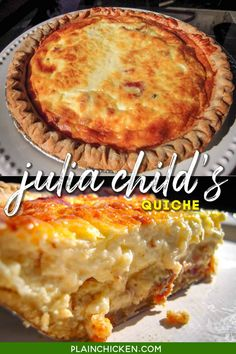 Best Quiche Recipes, Brunch Recipes, Great Recipes, Favorite Recipes, Drink Recipes, Julia Childs, Breakfast Dishes, Breakfast Recipes, Breakfast Quiche