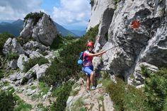 Klettersteig: Kampenwand Steig - Klettersteig in Deutschland, -Bayern im Gebirge/Berg Chiemgauer Alpen/Kampenwand