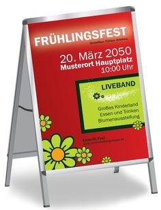 Frühlingsfest Plakate gestalten und günstig drucken! #onlineprint #onlinedruckerei #print #frühling #spring