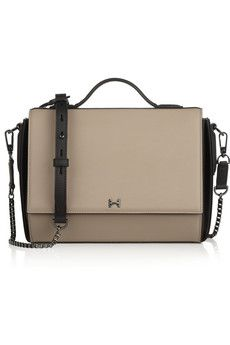Halston Heritage Two-tone leather shoulder bag | THE OUTNET