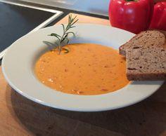 Paprika-Creme-Suppe griechische Art