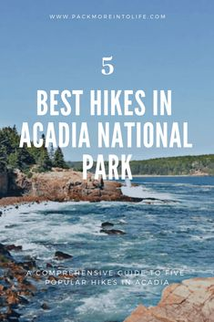 Looking to enjoy some hiking in Acadia National Park? Check out the best hikes in Acadia National Park with your family. From easy trails to a couple that are intense and best for families with older kids. Acadia National Park Hiking, National Parks Usa, Maine Road Trip, East Coast Road Trip, New England Travel, Hiking With Kids, Tide Pools, Best Hikes, Family Travel