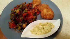 Elmira paleo konyhája: Rántott cukkini kapros majonézzel, pirított szalon... Atkins, Tandoori Chicken, Meat, Ethnic Recipes, Food, Essen, Meals, Yemek, Eten