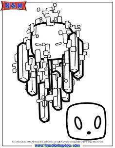 Printable Roblox Minecraft Enderman Coloring Page