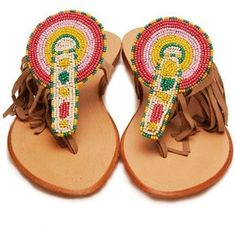 Colorful Beaded Sandals!