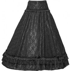Black beautiful goth skirt by Sinister (shown with petticoat)