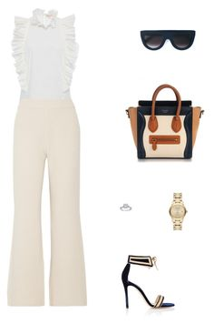Street Style by julieselmer on Polyvore featuring polyvore fashion style Rebecca Taylor Joseph Gianvito Rossi Burberry CÉLINE clothing