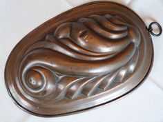 RARE OLD Jelly Cake COPPER MOLD/ tinned surface / VINTAGE #6207AJ