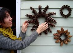 Nature Wreaths! pine cones, sweet gum balls, ect.
